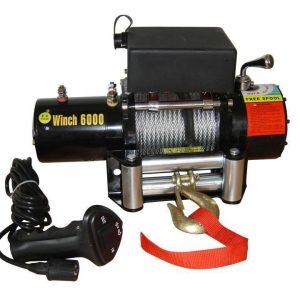 Electric Winch  6000 lbs 2750kg 12v